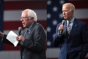 Bernie Sanders and Joe Biden