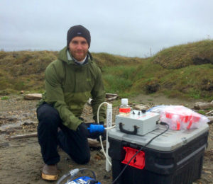 A scientist measures carbon and nitrogen in groundwater in Alaska