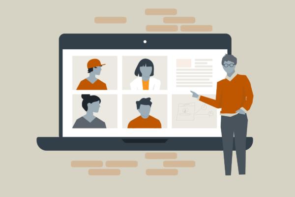 Illustration of online classes