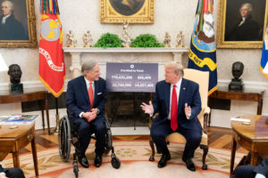 Governor Greg Abbott and President Donald Trump