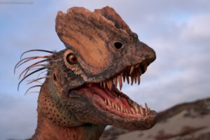 Dilophosaurus Puppet Low front mouth open