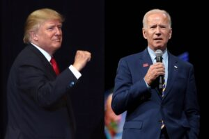 President Donald Trump (left) and Democratic presidential nominee Joe Biden (right)