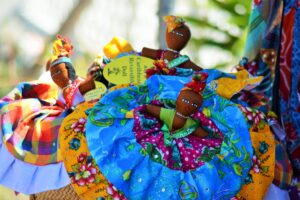 Colorful Creole dolls