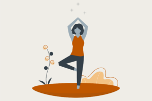 animation of woman doing a yoga pose