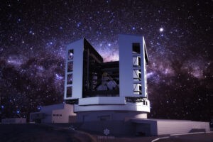 Giant Magellan Telescope with night sky and stars