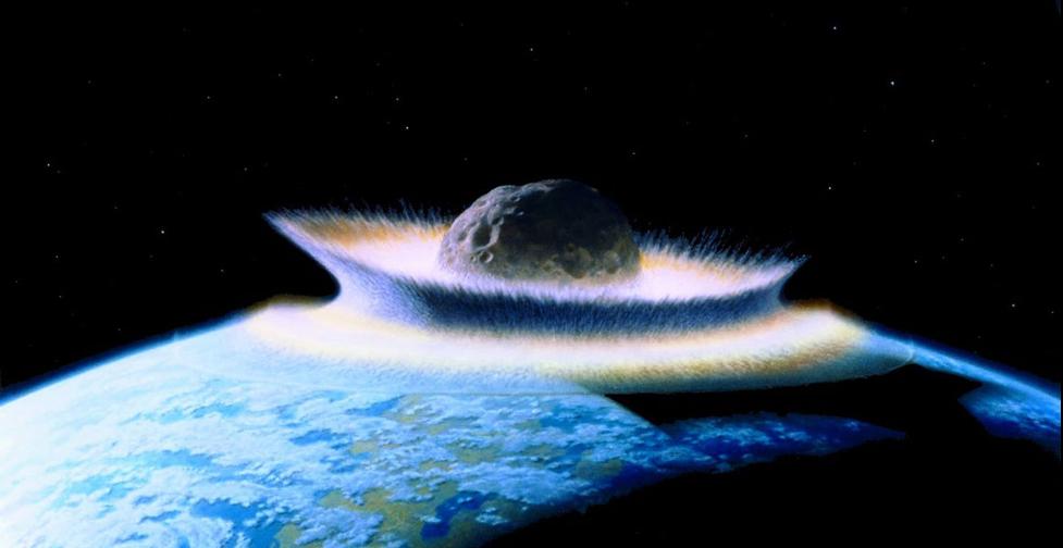 Representation of dinosaur-killing asteroid