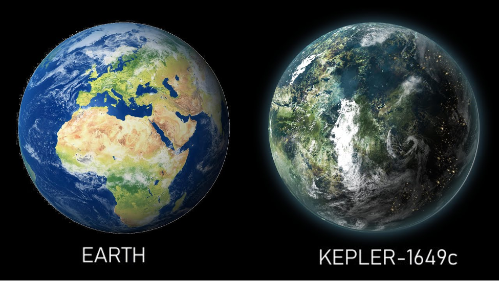 Earth and the discovered planet