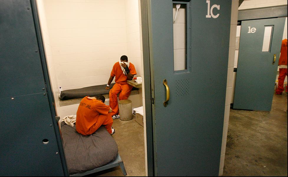 People inside Texas jail