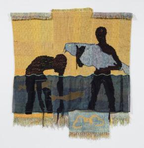tapestry by Diedrick Brackens at the Blanton Museum of Art