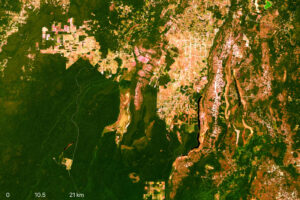 NASA Landsat 8 Image of Northwestern Belize
