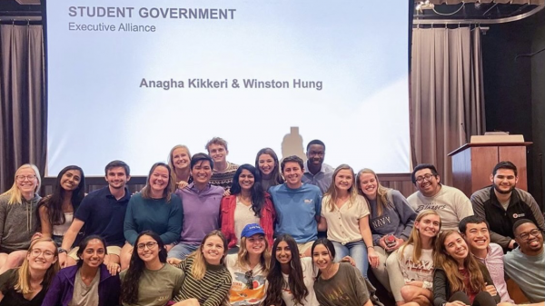 Elected student government officers of 2020.