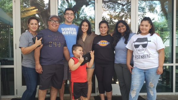 Beatrice Torres with her family.