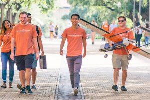 Lee with UAV Austin team members.