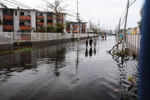 flooding on a Puerto Rico street