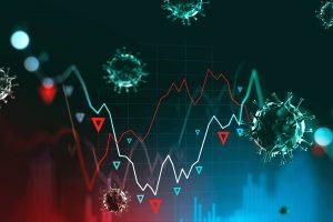 Coronavirus tracking system illustration.