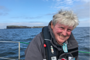 A picture of Ian Dalziel at sea