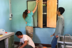 UT students building a kitchen