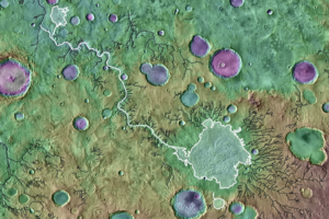 Mars outlet crater